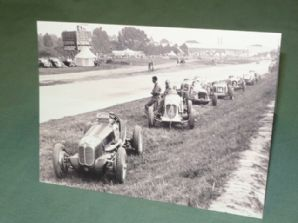 MASERATI Race Cars at Brooklands 1930s. Greetings Card
